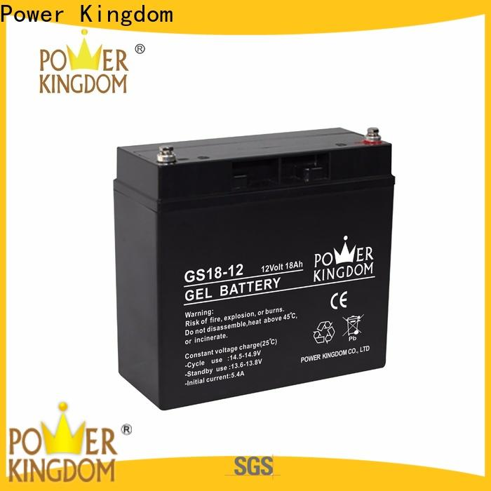 Power Kingdom sealed 12v lead acid battery design solor system