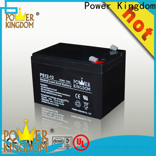 Power Kingdom no electrolyte leakage sealed 12v deep cycle battery factory deep discharge device
