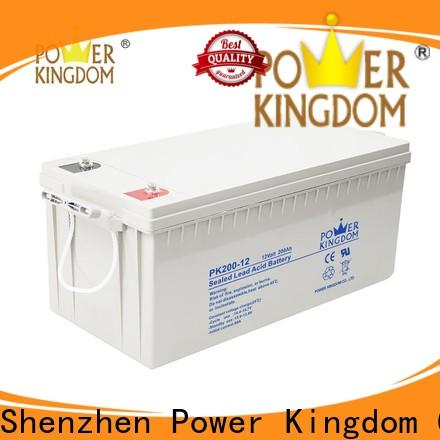 Power Kingdom 12 volt gel cell factory price solar and wind power system